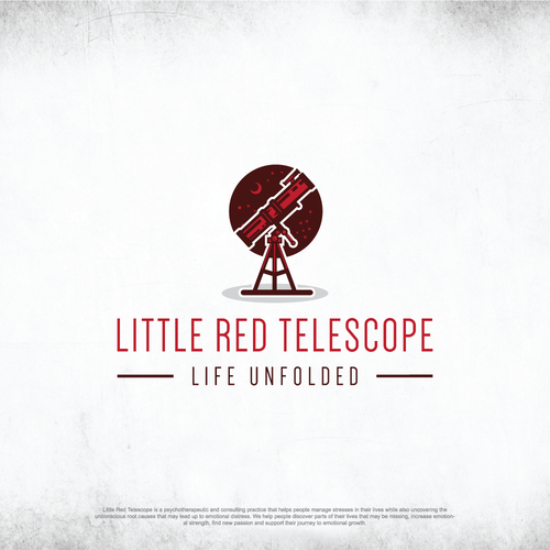 Little Red Telescope logo design