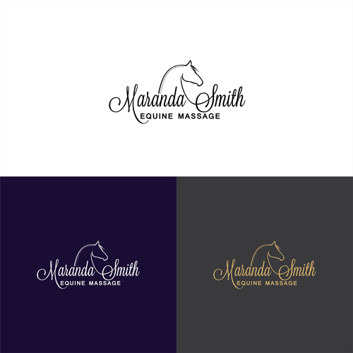 Create a horse related logo for equine massage. Looking for bold and creative.