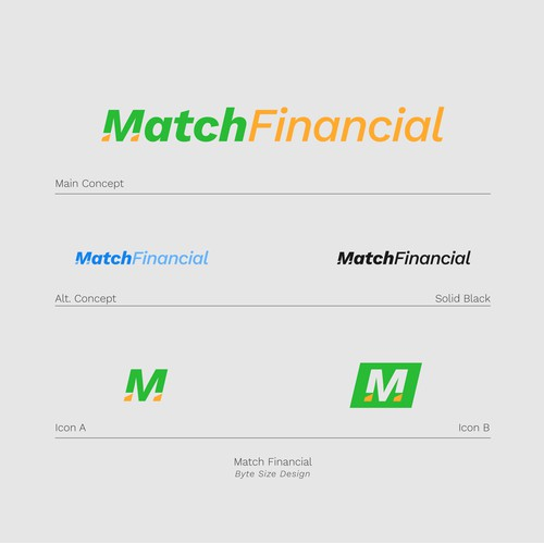Logo:: Match Financial (Green/Gold)