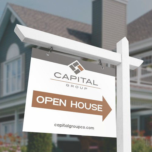 Modern Open House Sign Design