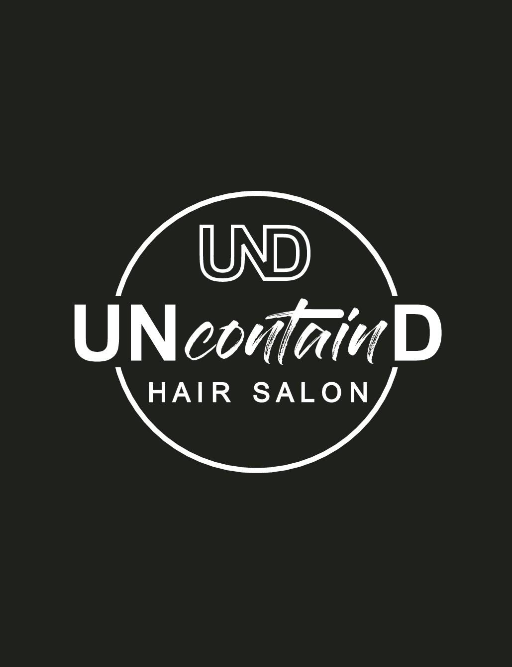 Think UNcontainD - Logo for Cutting Edge Hair Salon