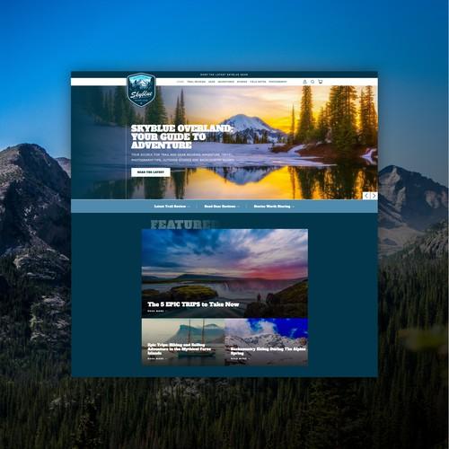 Lifestyle Website for Adventure Brand