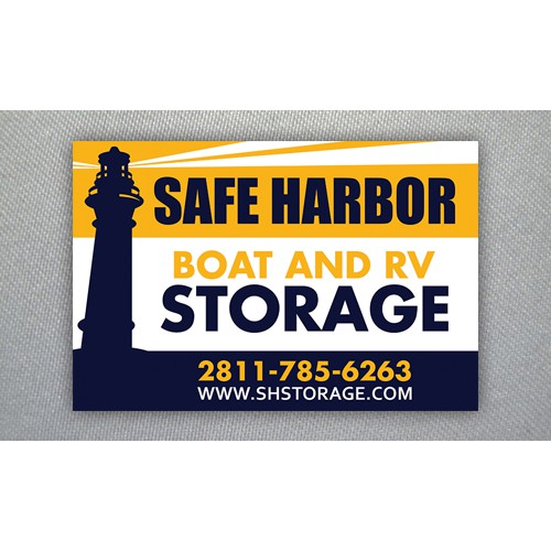 Sign for a Boat and RV Storage