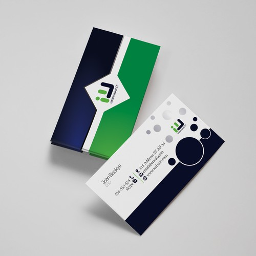 Create a business card for a slightly offbeat IT services provider:  uwannawat IT