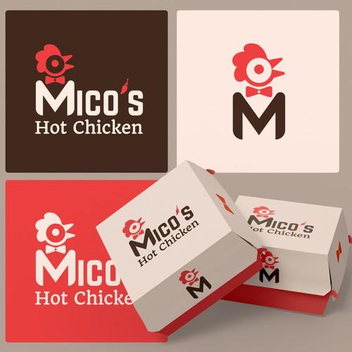 Hot Chicken Restaurant Logo