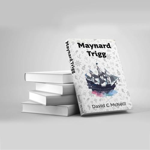 Book cover design and illustration for a novel