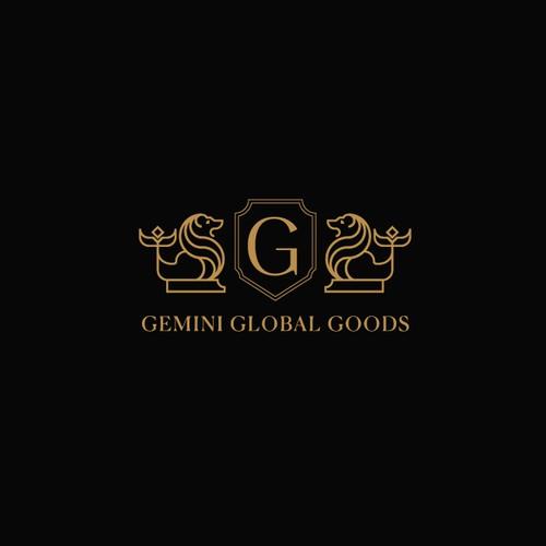 Gemini global goods logo design concept