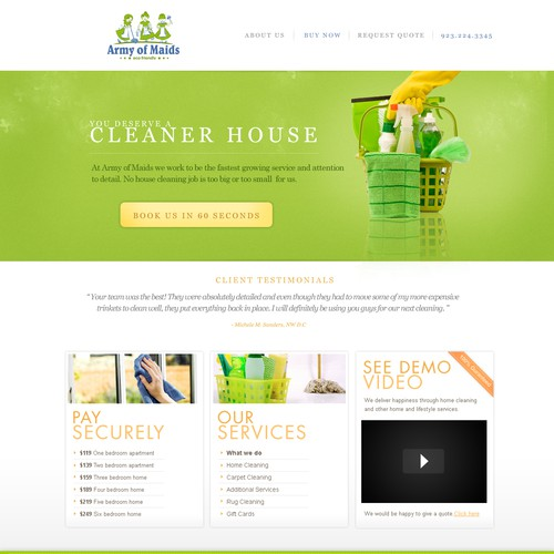 $$ GUARENTEED $$ Website design wanted for Army of Maids