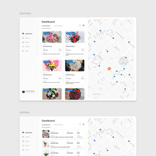 Flower Delivery Concept Webapp