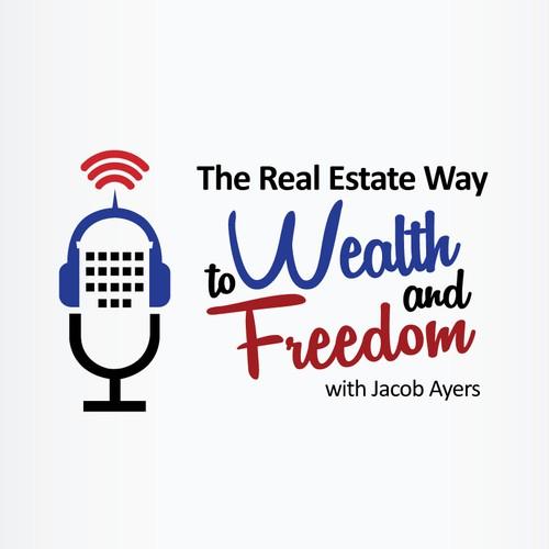 Real estate podcast logo winner