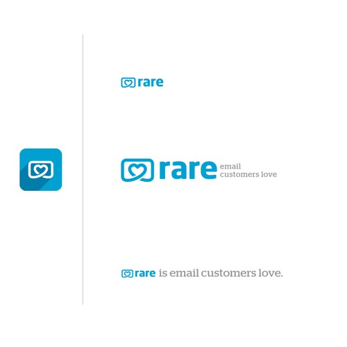 Logo design for Rare - Email Customers Love