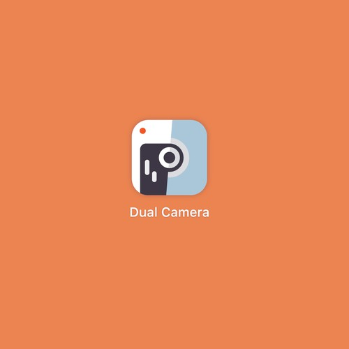 An iOS icon for video recording app, in which you can record using both cameras at the same time