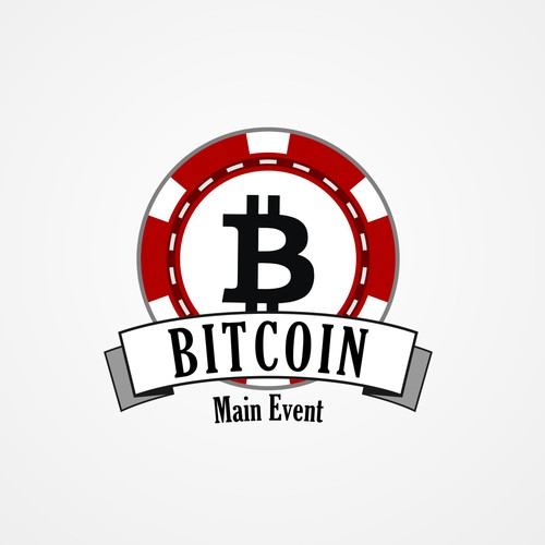 Create a logo for the first-ever bitcoin poker live tournament.