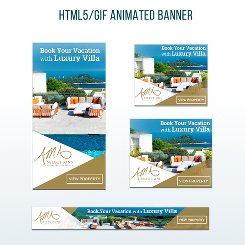 Flash Adsense Banners Design for Luxury Vacation Rental Agency