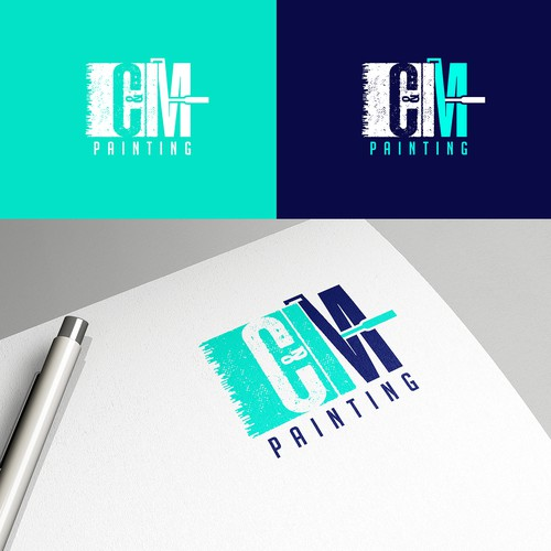 Fun yet Sophisticated Logo Design for Residential and Commercial Painting Company