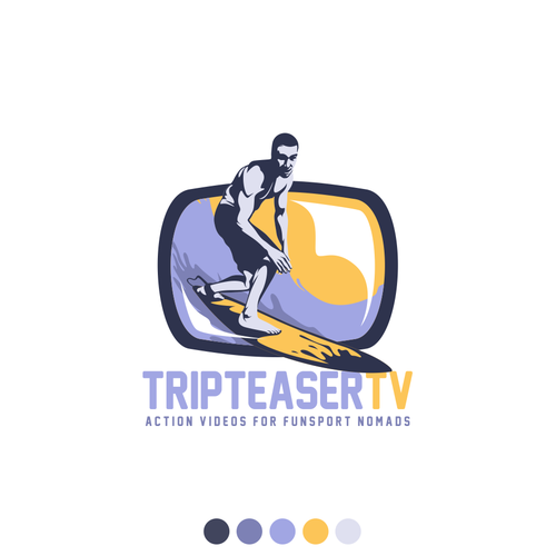 playful logo for TripteaserTV