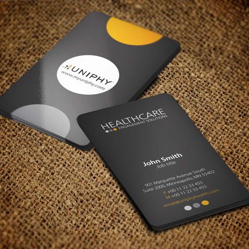 Design the winning look for our business cards and be seen all over the U.S.