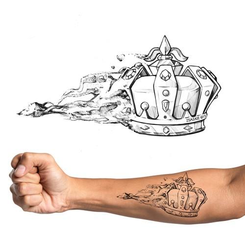 Ash to Kings Crown Tattoo