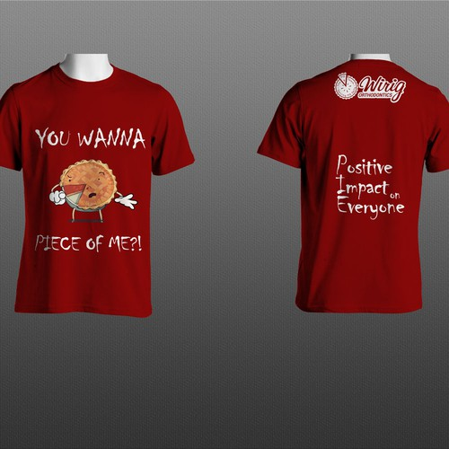 'You wanna peace of me?!' red T-shirt design.