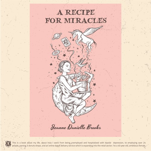 Design a quirky, Fun, tattoo style illustrated cover for self-help/biography book for women.