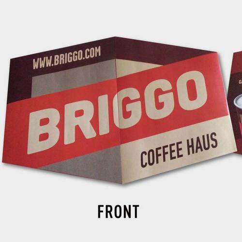 BRIGGO coffee brochure