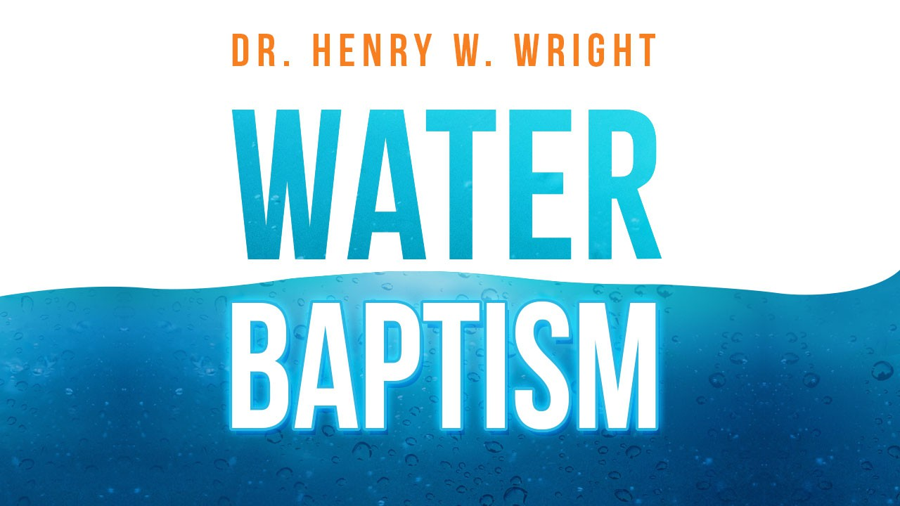 Create a non-traditional CD cover for a teaching on Water Baptism