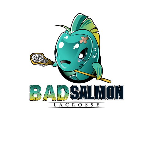 Create the next illustration for BadFish Lacrosse