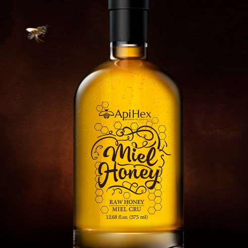 Premium honey, label design