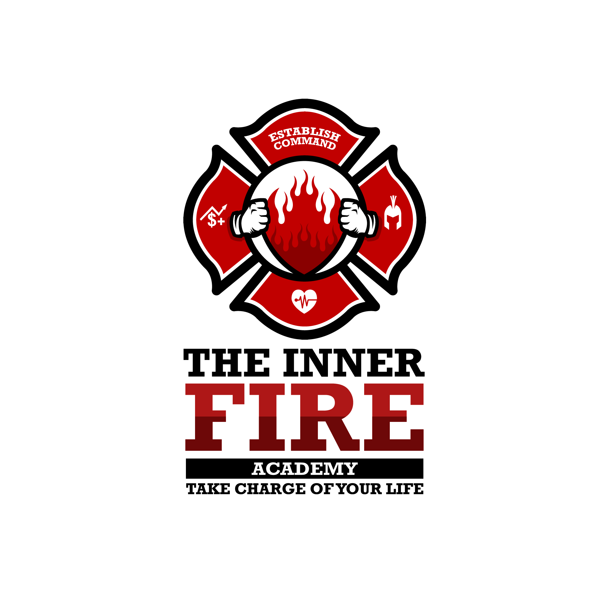 Design a powerful, eye-catching logo for a firefighter that inspires others!