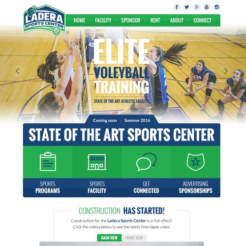 Ladera Sports Center website design
