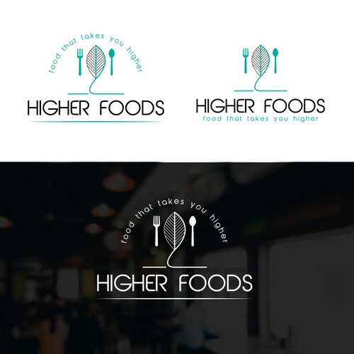 Higher food , logo for new  resturant