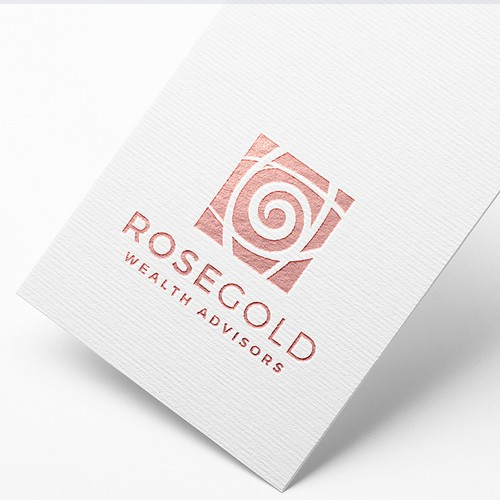 RoseGold Wealth Advisors - Logo design