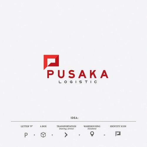 Logo design for PUSAKA Logistic
