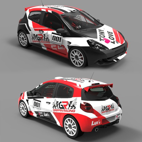 Renault Clio RS cup 2010 Race car design