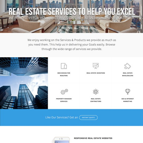 Real Estate Web Design Agency Website | Website for Realtors, Wholesalers, Investors and More.