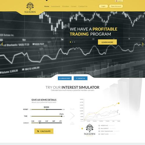 New website design wanted for 5Gulden - http://5gulden.com/