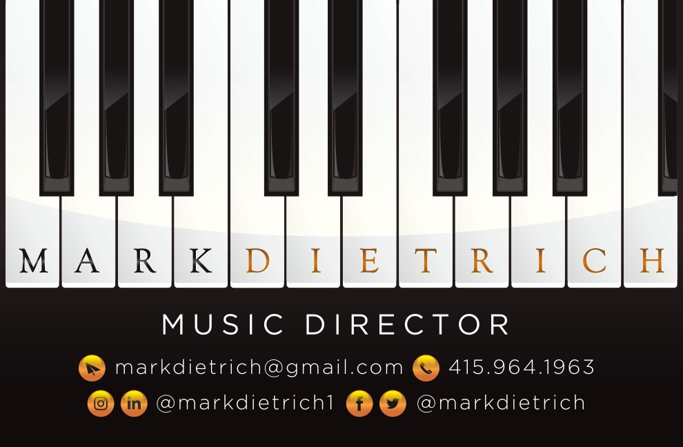 Business Card for a Music Director