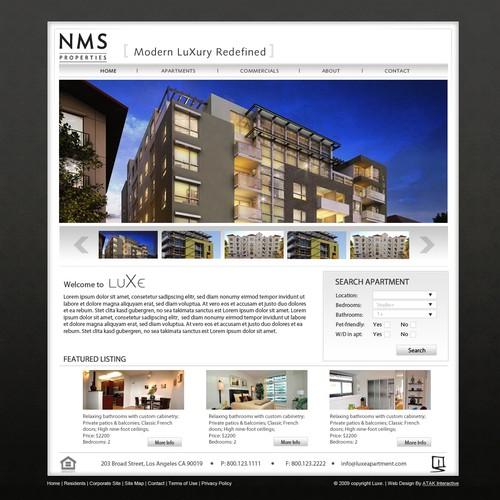 Website Design for Hip Modern Luxury Apartments in LA area