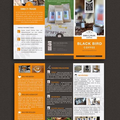Flyer für eine Direct-Trade-Kaffeerösterei
