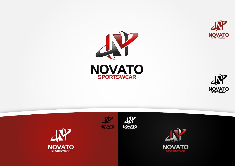 "NEED A COMPANY IDENTITY WITH THE NAME "" NOVATO"" OR ""NOVATO SPORTSWEAR""."