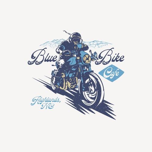 Blue Bike Cafe Racer