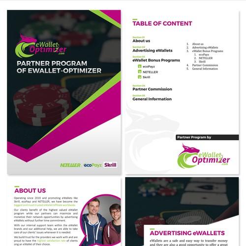 largest eWallet affiliate looking for a new designed Partner PDF