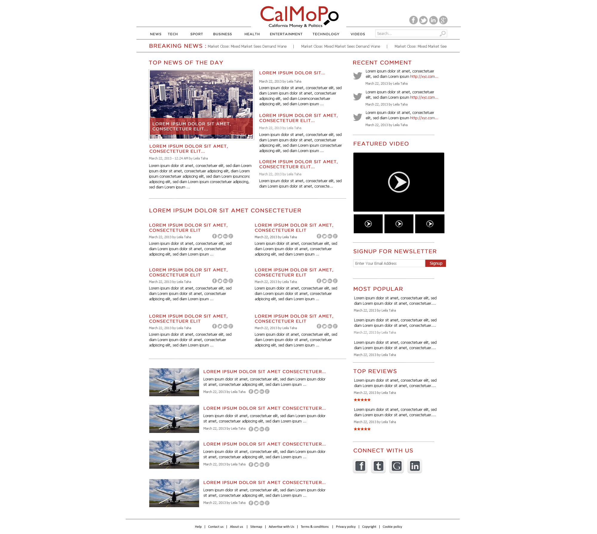 Create the next website design for CalMoPo