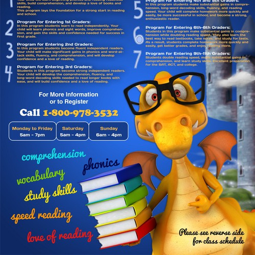 Flyer Advertising Summer Reading Programs