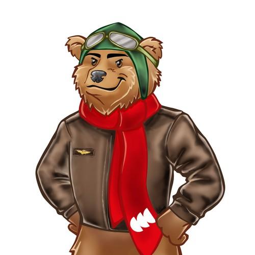 Mascot for Corning Community College
