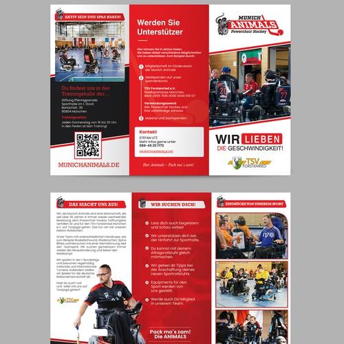 TRIFOLD brochure for Hockey team