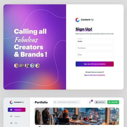 Sign up form design