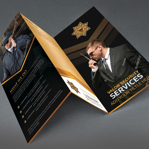 Brochure for security services