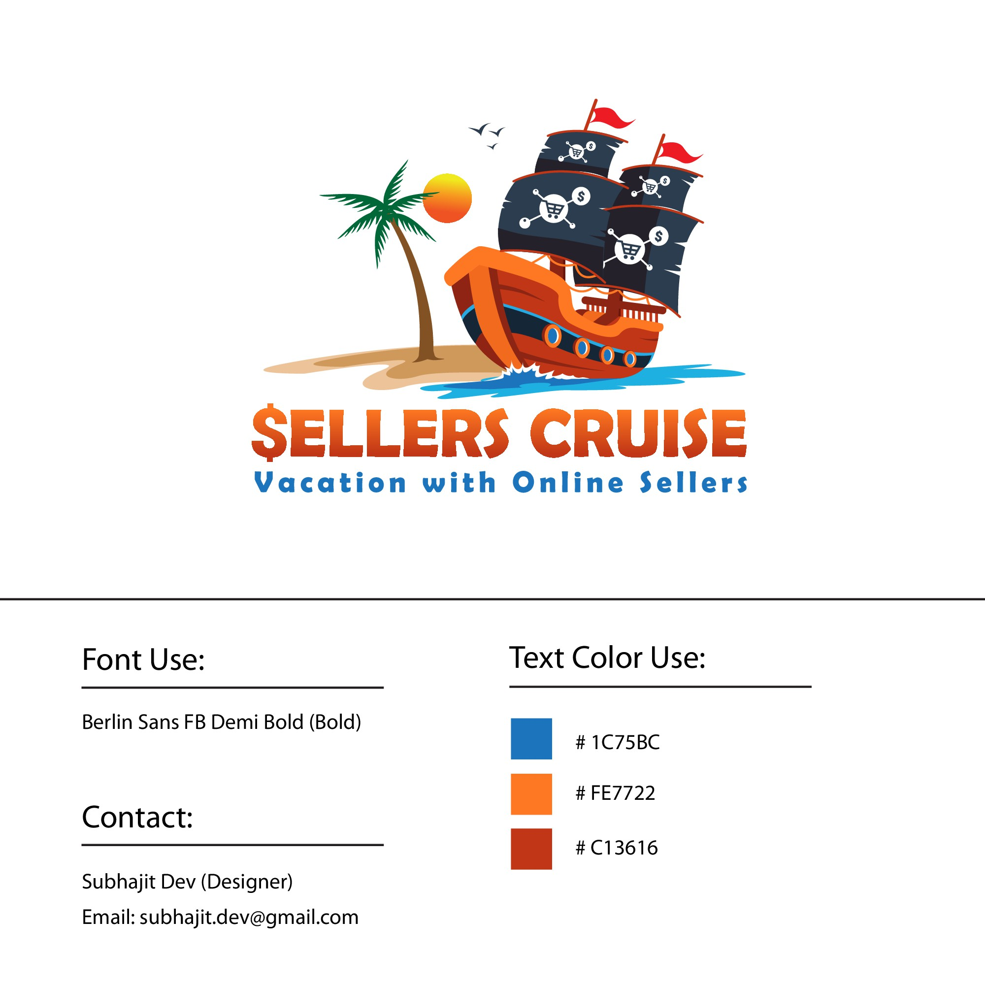 Design a logo for a cruise/vacation for online sellers