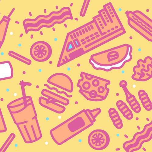 Food truck icons/pattern